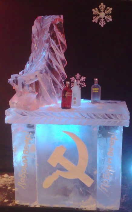 russian themed ice bar