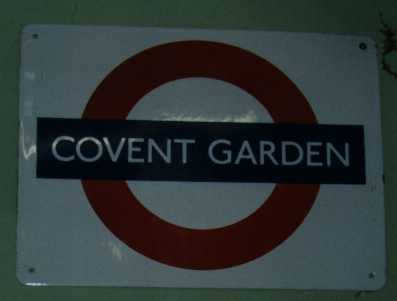 covent garden tube sign