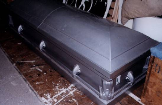 metal coffin
