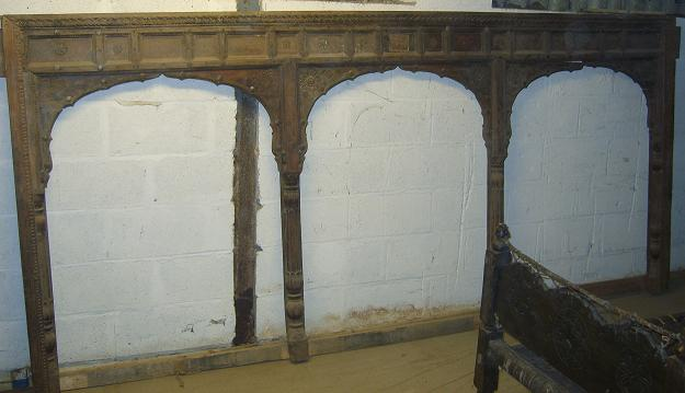 Carved wooden Asian arches