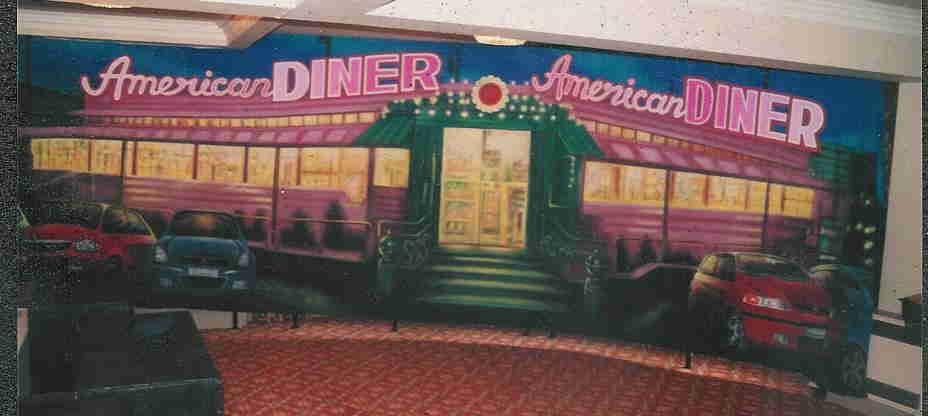 diner backdrop
