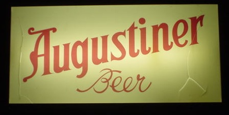 augustiner beer sign illuminated 600 x 400mm