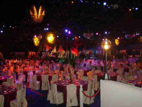view of masked ball party