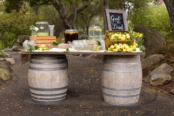 barrel buffet station
