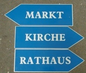 bavarian direction signs