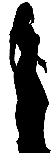 Bond girl silhouettes