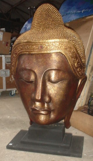 large gold buddha head