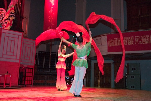 Chinese Ribbon dancers