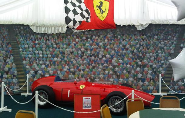 Grand prix cars for display