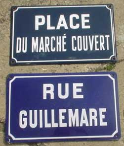 original french signs