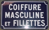 Original french hairdressing sign