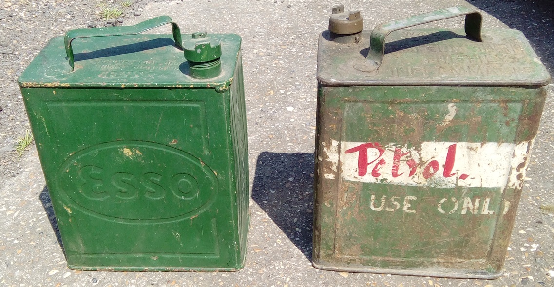 old fuel cans
