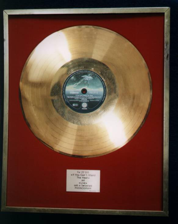 gold disc framed