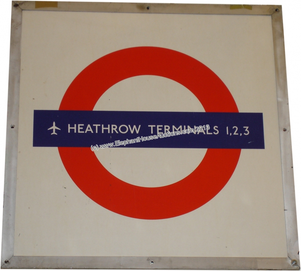heathrow underground sign