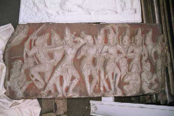 Hindu relief panel