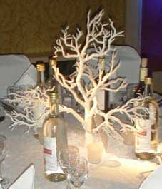 ice tree table centrepiece