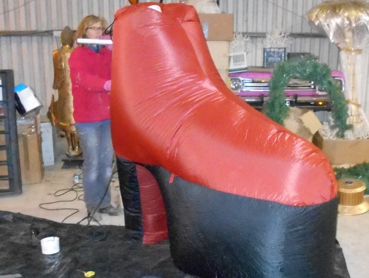inflatable glitter boots