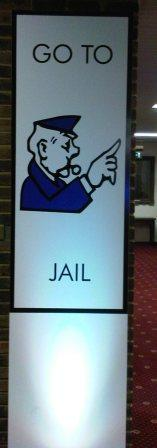 go to jail giant monopoly style boards