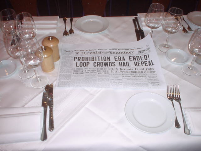 prohibition party table