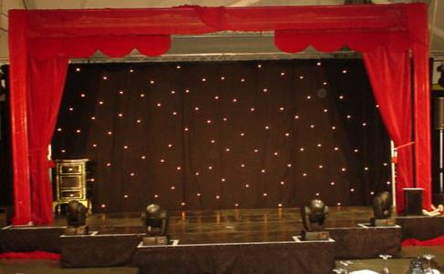 Cabaret stage curtains and valance