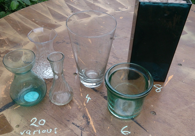 selection of glass vases